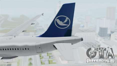 Airbus A319 Air Transylvania для GTA San Andreas вид сзади слева