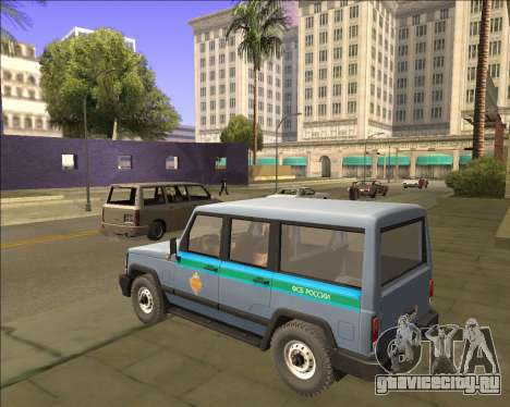 УАЗ 3170 ФСБ для GTA San Andreas вид сзади слева
