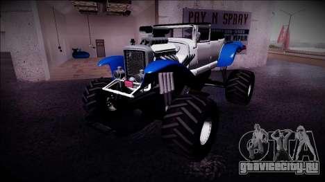 GTA 5 Albany Franken Stange Monster Truck для GTA San Andreas вид слева