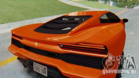 GTA 5 Pegassi Vacca IVF для GTA San Andreas вид сзади
