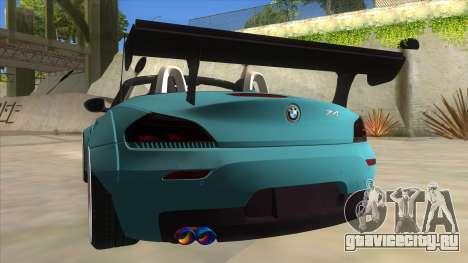 BMW Z4 Liberty Walk Performance для GTA San Andreas вид снизу