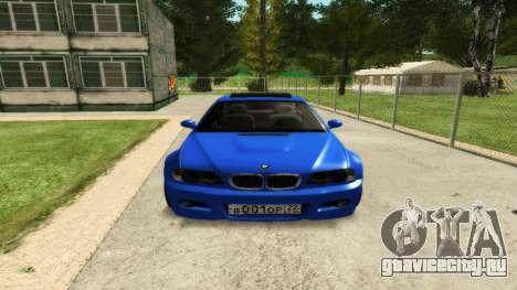 BMW M3 E46 для GTA San Andreas вид изнутри