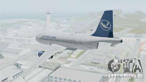 Airbus A319 Air Transylvania для GTA San Andreas вид слева