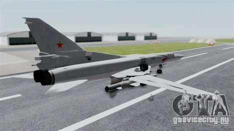 ТУ-22М3 Grey для GTA San Andreas вид слева