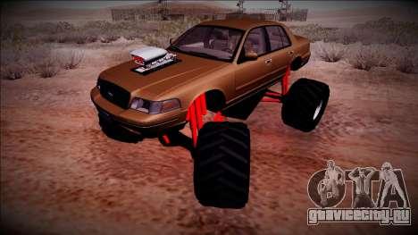 2003 Ford Crown Victoria Monster Truck для GTA San Andreas вид сбоку