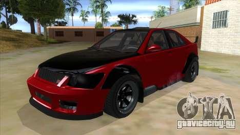 GTA V Karin Sultan RS 4 Door для GTA San Andreas вид изнутри