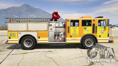 Los Angeles Fire Truck для GTA 5 вид слева