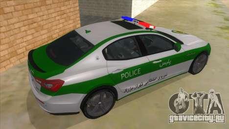 Maserati Iranian Police для GTA San Andreas вид справа