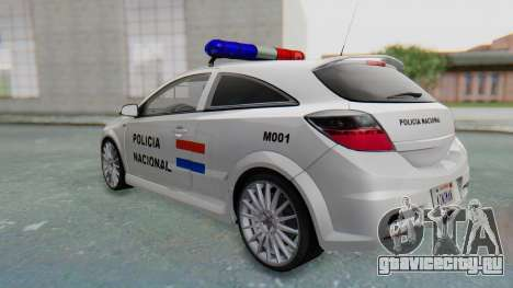 Opel-Vauxhall Astra Policia для GTA San Andreas вид справа