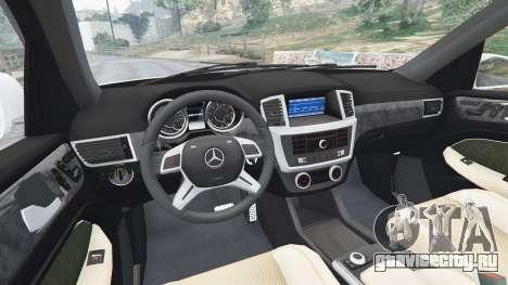 Mercedes-Benz GL63 (X166) AMG для GTA 5 вид сзади справа