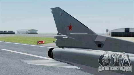 ТУ-22М3 Grey для GTA San Andreas вид сзади слева