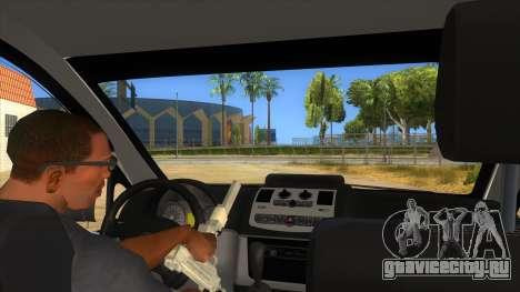 Mercedes Benz Vito Romania Police для GTA San Andreas вид изнутри