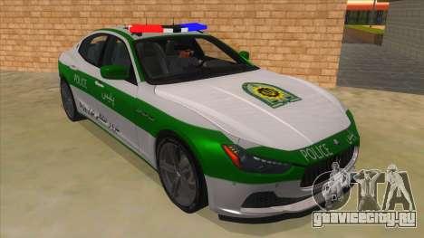 Maserati Iranian Police для GTA San Andreas вид сзади