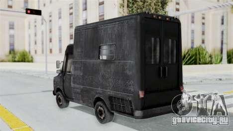 Полицейский фургон из RE Outbreak для GTA San Andreas вид слева