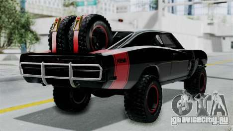 Dodge Charger 1970 Off Road  F&F7 для GTA San Andreas вид слева