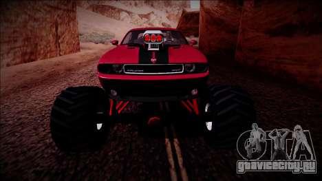 2009 Dodge Challenger SRT8 Monster Truck для GTA San Andreas вид снизу