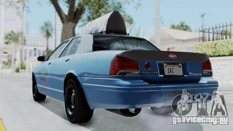 GTA 5 Vapid Stanier II Taxi для GTA San Andreas вид слева