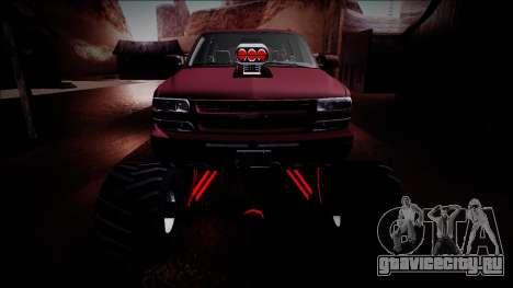 2003 Chevrolet Suburban Monster Truck для GTA San Andreas вид сверху