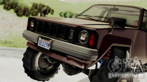 GTA 5 Karin Technical Cleaner IVF для GTA San Andreas вид сзади