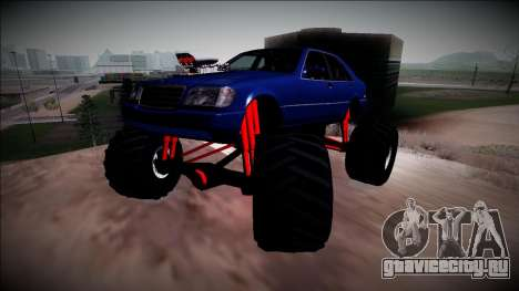 Mercedes-Benz W140 Monster Truck для GTA San Andreas вид сбоку