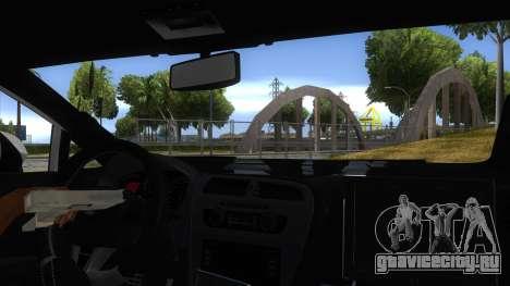 Seat Leon Cupra Romania Police для GTA San Andreas вид изнутри