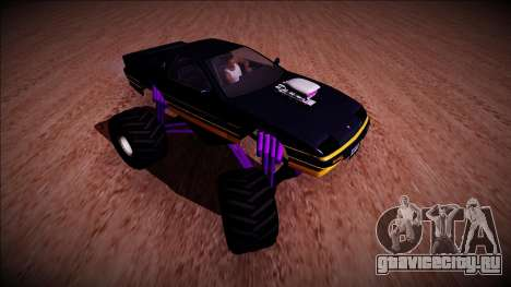 GTA 5 Imponte Ruiner Monster Truck для GTA San Andreas вид сзади