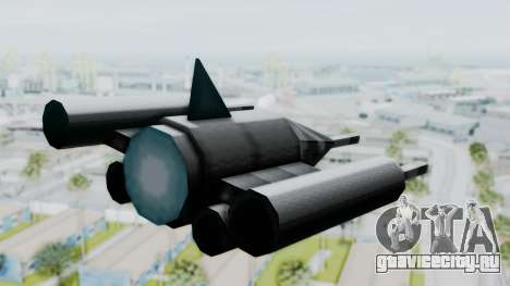 TCFU Spaceship для GTA San Andreas вид слева