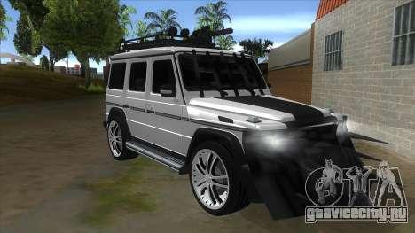 Mercedes-Benz G55 Response для GTA San Andreas вид сзади