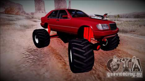 Mercedes-Benz W140 Monster Truck для GTA San Andreas вид сверху