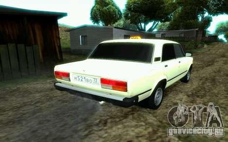 Ваз 2107 Такси для GTA San Andreas вид слева