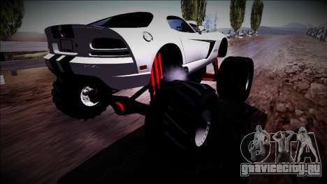 Dodge Viper SRT10 Monster Truck для GTA San Andreas вид слева