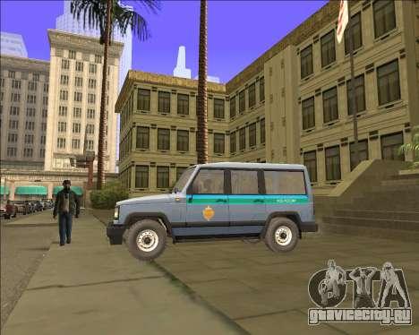 УАЗ 3170 ФСБ для GTA San Andreas вид слева