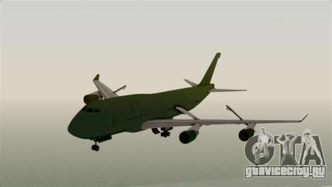 GTA 5 Jumbo Jet v1.0 для GTA San Andreas вид сзади слева