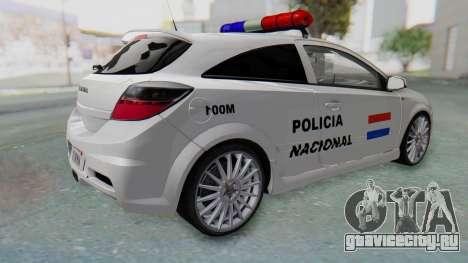 Opel-Vauxhall Astra Policia для GTA San Andreas вид слева