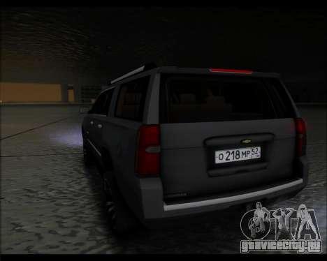 Chevrolet Suburban 2015 для GTA San Andreas вид слева