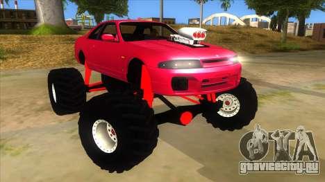 Nissan Skyline R33 Monster Truck для GTA San Andreas вид сзади