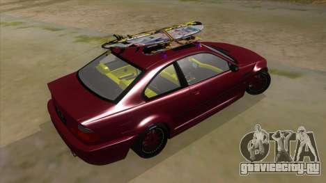 BMW M3 E46 Lily Itasha для GTA San Andreas вид справа