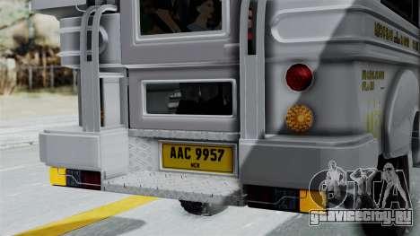 Jeepney Philippines для GTA San Andreas вид сбоку