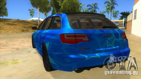 Audi RS6 Blue Star Badgged для GTA San Andreas вид сзади слева