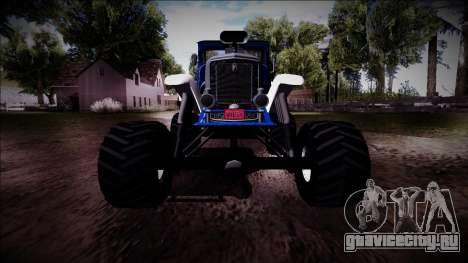 GTA 5 Albany Franken Stange Monster Truck для GTA San Andreas вид сверху