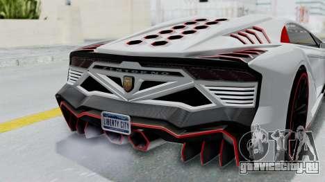 GTA 5 Zentorno Tron для GTA San Andreas вид сзади