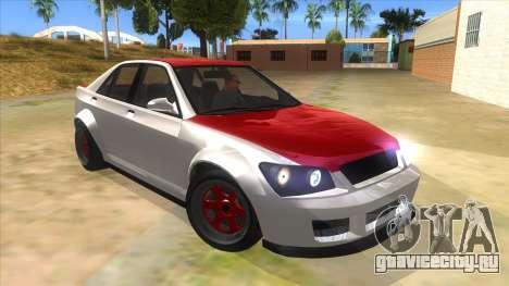GTA V Karin Sultan RS 4 Door для GTA San Andreas вид сзади