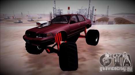 2003 Ford Crown Victoria Monster Truck для GTA San Andreas салон