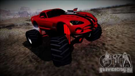 Dodge Viper SRT10 Monster Truck для GTA San Andreas вид сзади слева