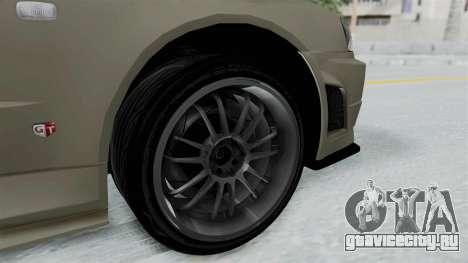 Nissan Skyline GT-R R34 2002 F&F4 Damage Parts для GTA San Andreas вид сзади слева