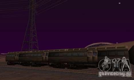 Batman Begins Monorail Train Vagon v1 для GTA San Andreas вид слева
