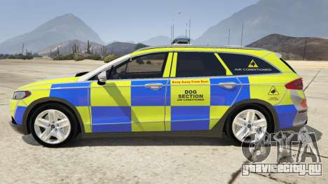 2014 Police Ford Mondeo Dog Section для GTA 5 вид слева