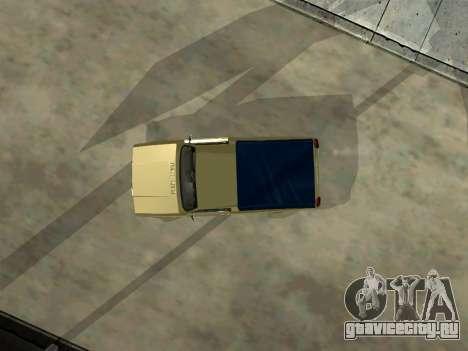 ВАЗ 2104 Пикап для GTA San Andreas вид изнутри