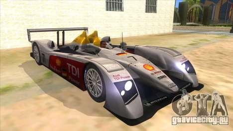 Audi R10 для GTA San Andreas вид сзади