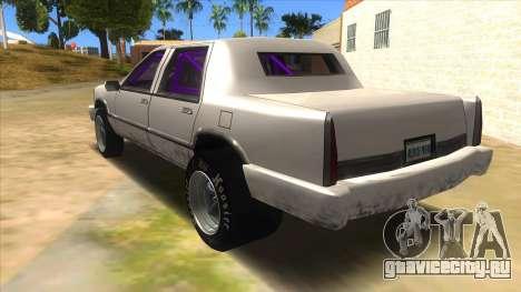 Stretch Sedan Drag для GTA San Andreas вид сзади слева